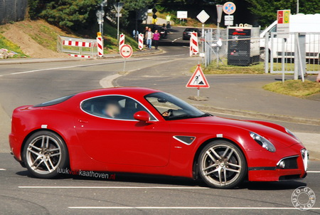 Alfa Romeo 8C GTA, fotos espía