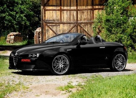 Alfa Romeo Spider y Novitec, negro metalizado para el cabrio
