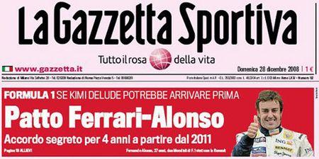 Alonso habría firmado con Ferrari para el año 2011