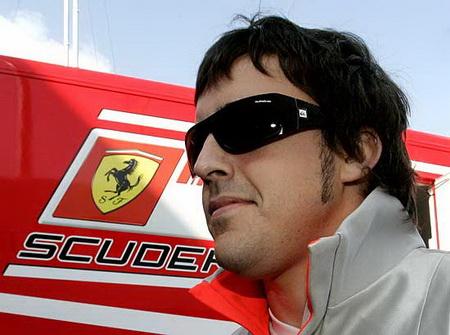 Fernando Alonso en ferrari