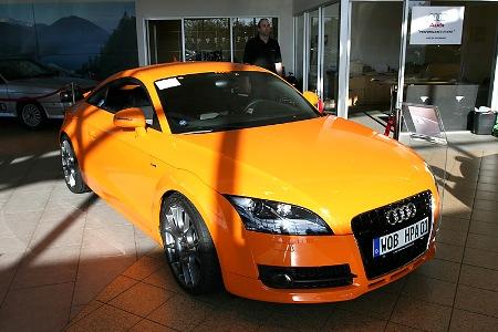 Audi TT 2007 por HPA MotorSports, 550 Cv pintados de naranja