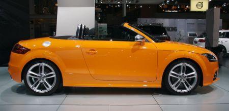 Audi TTS Roadster, en naranja para el salón de Bruselas