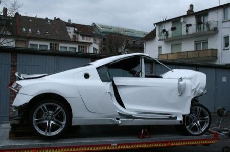 Accidente Audi R8 lateral