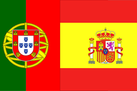 Bandera española, bandera portuguesa
