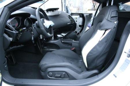 Accidente Audi R8 interior
