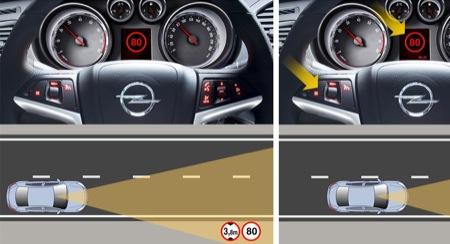 Sistema de detección de señales y de salida de carril para el Opel Insignia