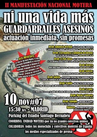 2º Manifestación en contra de los Guardarrailes
