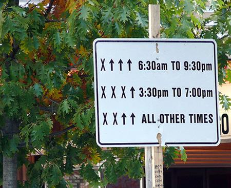 Las señales más confusas de los Estados Unidos