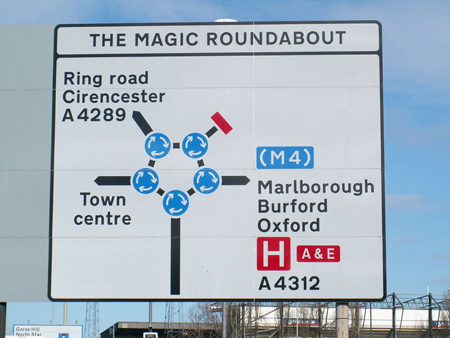 Magic Roundabout Swindon UK