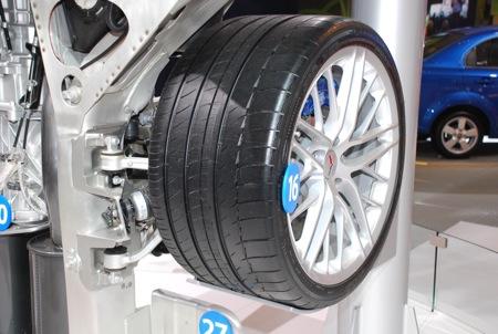 El chasis del Corvette ZR1, exposición en Detroit
