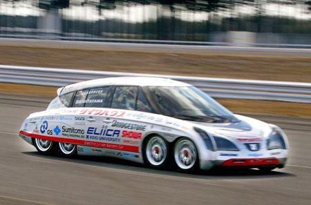 Eliica, electricidad a 370 km/h sobre ocho ruedas