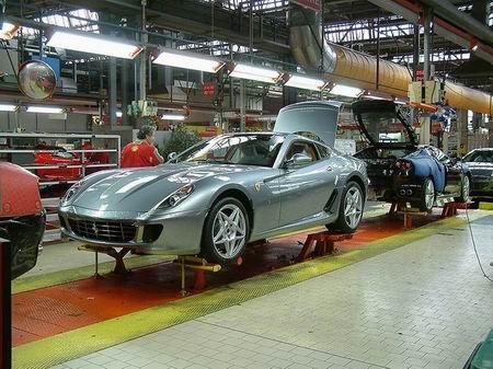 Galería de imágenes de una fábrica de Ferrari