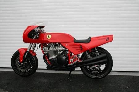 La única motocicleta Ferrari, a subasta
