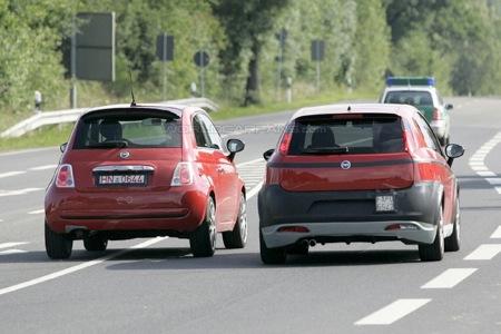 Fotos espía del Fiat 500 y Grande Punto en versión Abarth