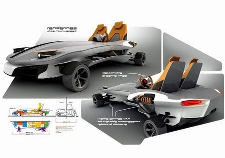 Kart con diseño de patín por Florian Dobe