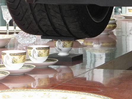 Lamborghini Gallardo tomando el té