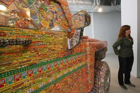 Hummer H3 Lottery, hecho de tickets de lotería