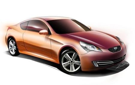 Recreación del futuro Hyundai Coupé con tracción trasera