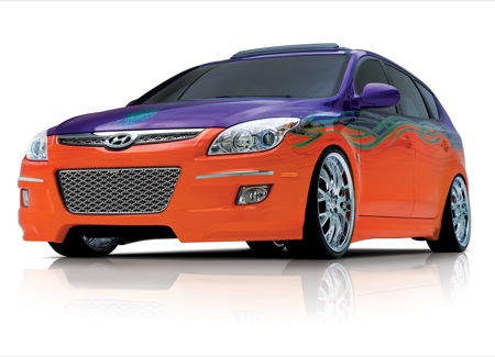 Hyundai Elantra Touring Beach Cruiser, colorido conceptual en el SEMA
