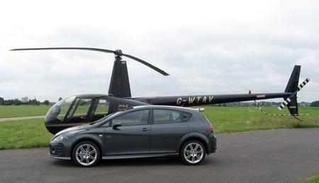 Lección gratuita de helicóptero al comprar un Seat
