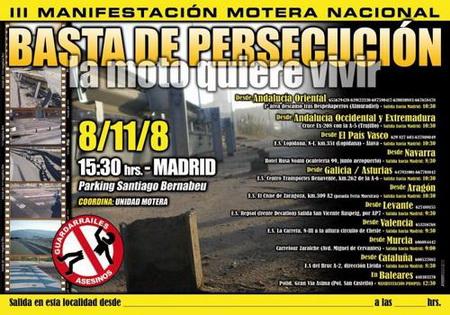 Nueva manifestación motera contra los guardarraíles
