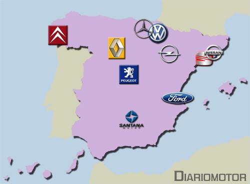 Mapa fabricantes automóviles España