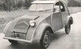 Uno de los primeros prototipos del 2cv