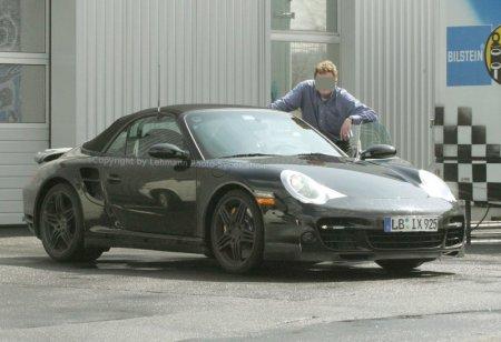 Fotos espía del Porsche 997 Turbo Cabrio