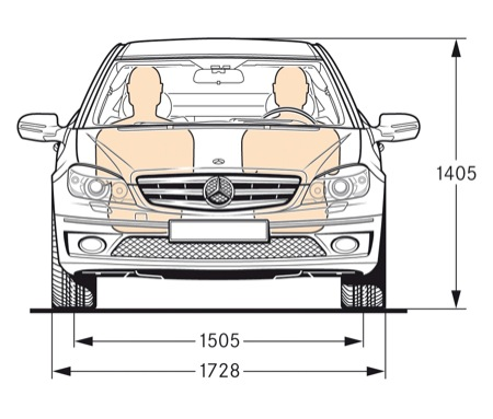 Presentaci n del mercedes benz clc diariomotor for Medidas de un carro arquitectura