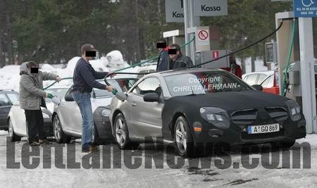 Mercedes SL 2009, recreación y fotos espía