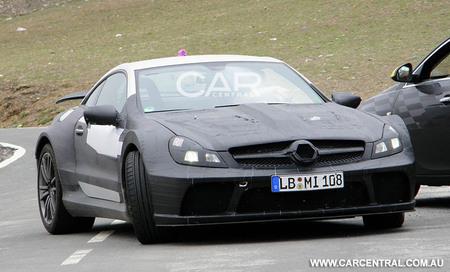 Nuevas fotos espía Mercedes SL65 AMG