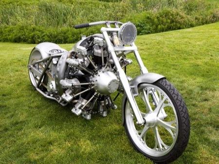 Radial Hell, la motocicleta de cilindros radiales