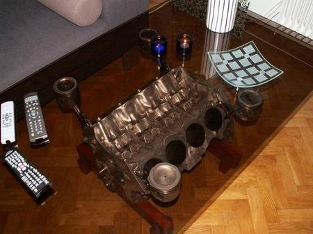 Decora tu hogar con un motor V8 de Rover