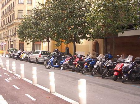 Motos en el tráfico
