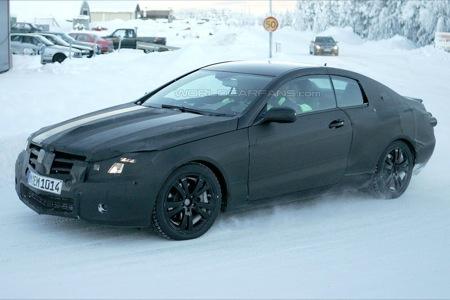 Fotografía espía Mercedes CLK 2009 pruebas de invierno