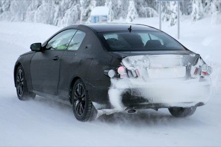 Fotografía espía trasera Mercedes CLK 2009 pruebas de invierno