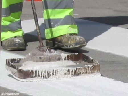 Cómo se pintan los pasos de cebra(senda peatonal), Imágene