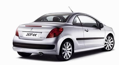 Fotos oficiales del Peugeot 207 CC