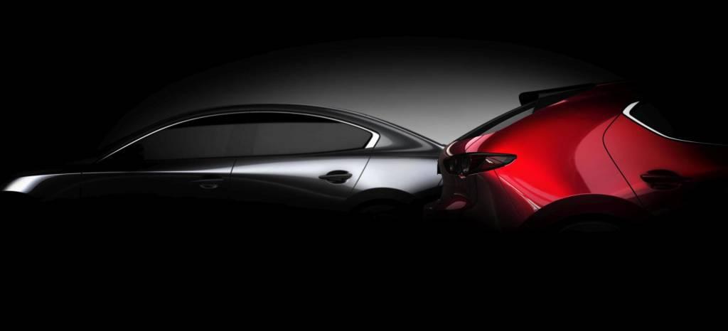 Saluda al nuevo Mazda3, esta es la primera imagen oficial del nuevo coche compacto de Mazda, del rival del nuevo Ford Focus