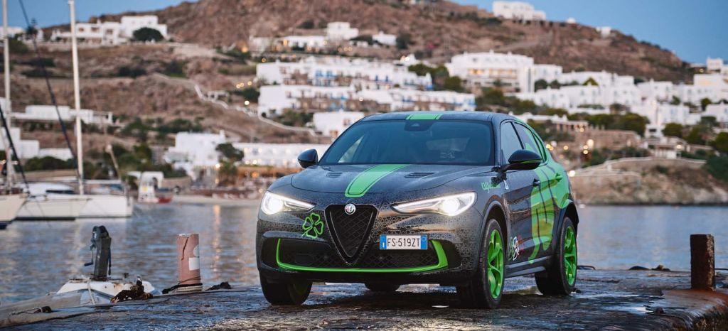 Este es el Alfa Romeo Stelvio Quadrifoglio Verde que participa en la Gumball 3000