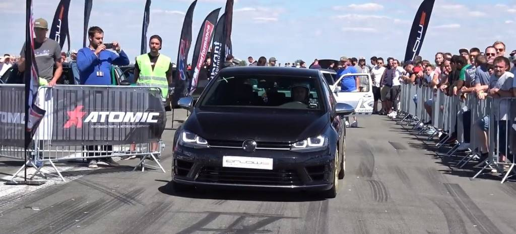 ¿El swap perfecto? Este Volkswagen Golf R tiene el motor 2.5 TFSI de cinco cilindros de un Audi RS3
