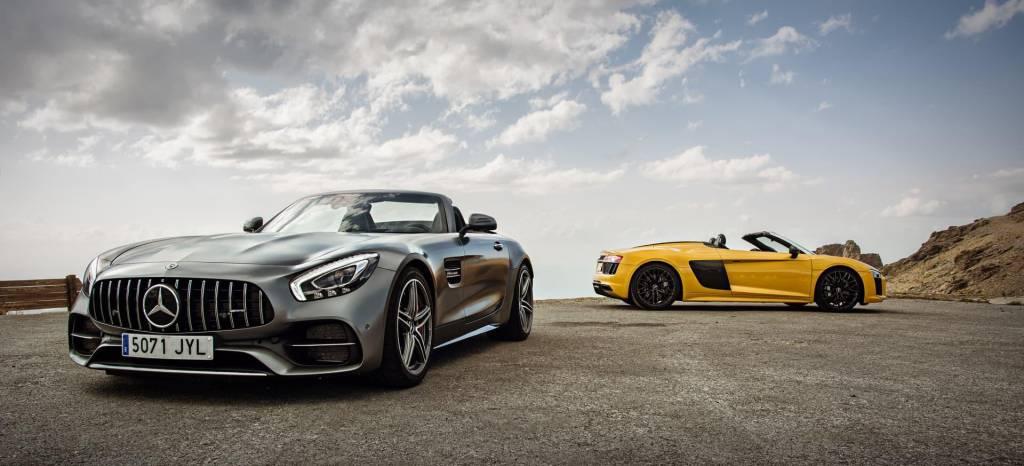 Duelo en la cumbre: Audi R8 Spyder vs Mercedes-AMG GT C Roadster