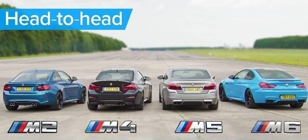 Batalla de aceleración en BMW Motorsport: M2, M4, M5 y M6 contra las cuerdas