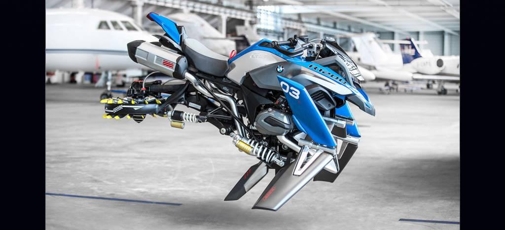 ¡No es una broma! BMW presenta una moto voladora (12 imágenes)