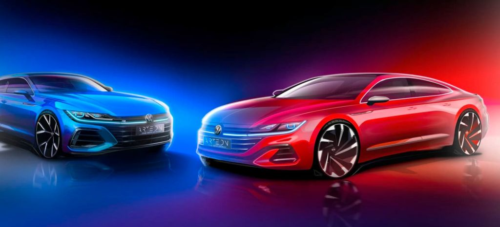 First Preview Towards The New Arteon Shooting Brake (left) And T thumbnail