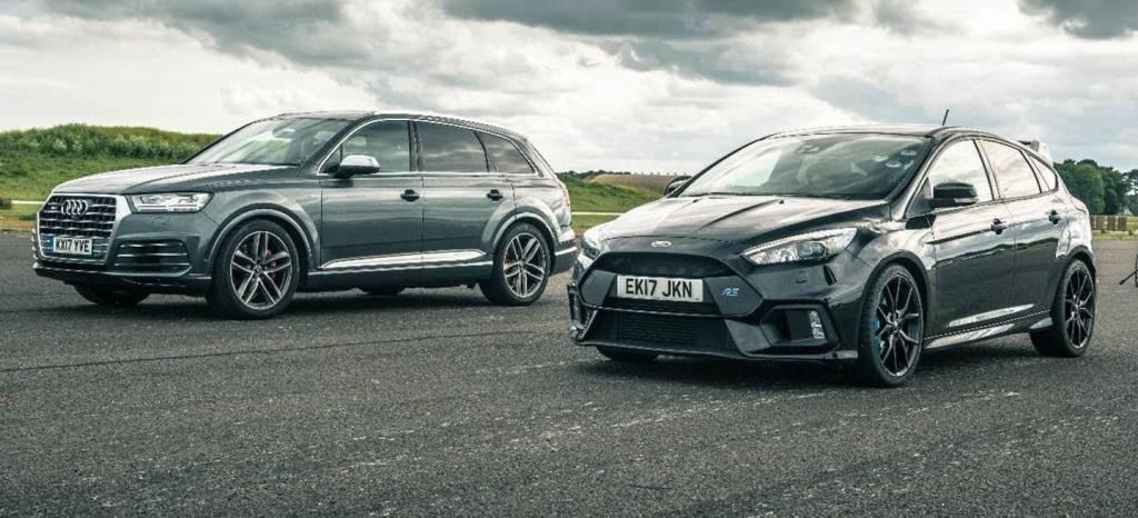 Este vídeo del Ford Focus RS contra el Audi SQ7 plantea una batalla injusta, e innecesaria