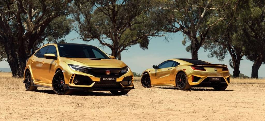 Honda tiñe sus deportivos de dorado para celebrar su 50 aniversario en Australia