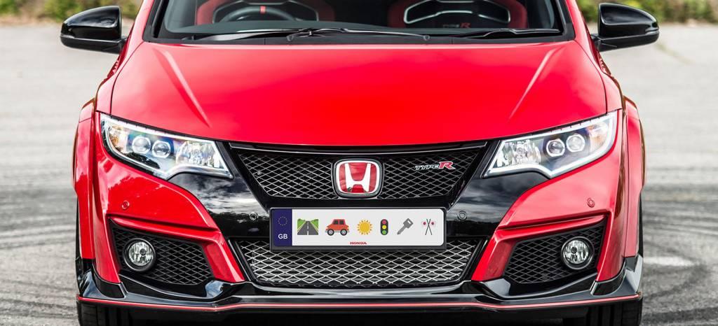 Te imaginas un mundo con emojis en las matrículas? Este Honda Civic ...