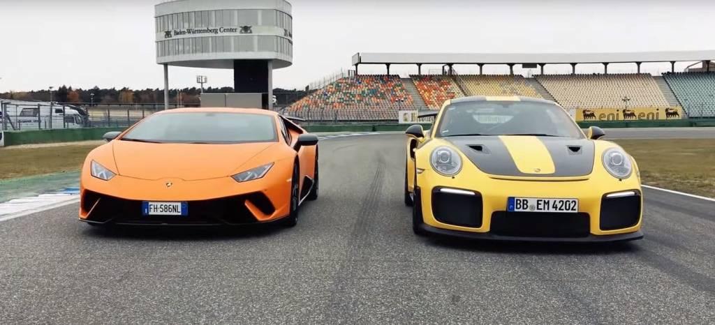 ¡Batalla en Hockenheim! El Lamborghini Huracán Performante se enfrenta a su némesis, el Porsche 911 GT2 RS