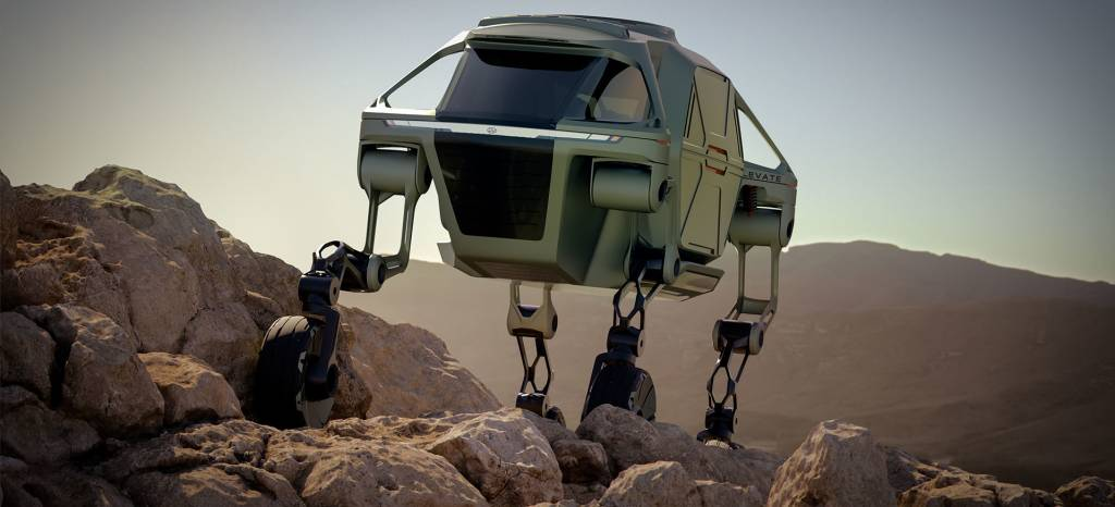 Hyundai presenta un vehículo capaz de caminar y trepar por las montañas